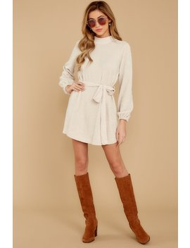 Found The One Ivory Chenille Sweater Dress by Etophe Studios