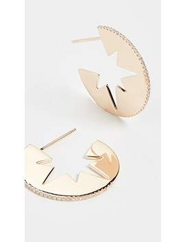 Celestial Cut Out Hoops by Shay