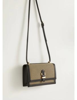Комбинированная сумка в гусиную лапку by Mango