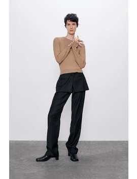 Pullover Mit Strukturmuster Und GeknÖpften Ärmeln Pullover Strickwaren Damen by Zara