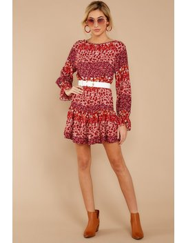 True To You Red Floral Print Dress by Skylar Madison