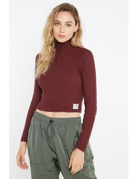 Uo Blocked Knit Half Zip Sweater by Urban Outfitters