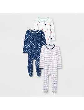 Baby 3pk Little Peanut Zip Sleep N' Play Pajama   Cloud Island™ by Cloud Island