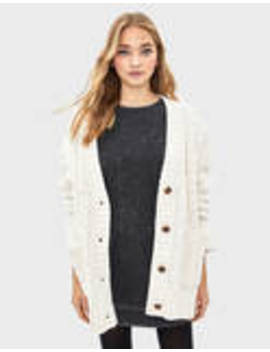 Oversized Chenille Cardigan by Bershka
