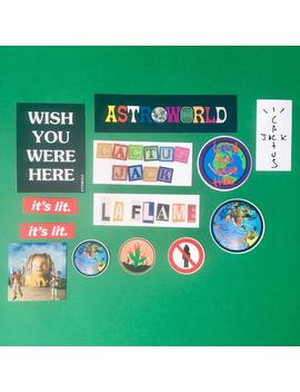 Astroworld Travis Scott Mega Vinyl Sticker Pack (13 Stickers) by Etsy