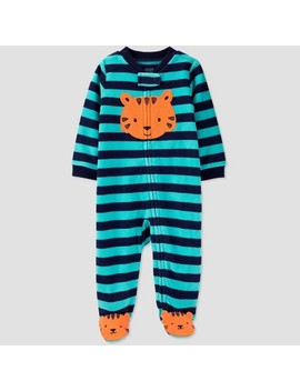 Baby Boys' Striped Fleece Sleep 'n Play   Just One You® Made By Carter's Green/Blue by Just One You Made By Carter's