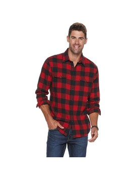 Men's Sonoma Goods For Life™ Super Soft Flannel Button Down Shirt by Sonoma Goods For Life