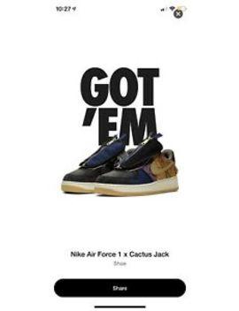 Nike X Travis Scott Air Force 1 'Cactus Jack' Uk 9 by Nike