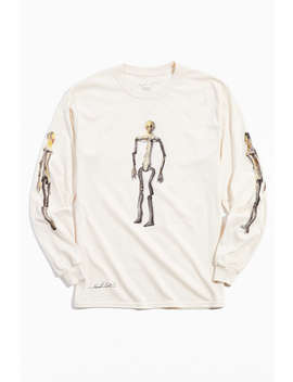 Kurt Cobain Kurt Was Here Skeleton Long Sleeve Tee by Urban Outfitters