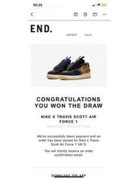 Nike X Travis Scott Air Force 1 ✅Confirmed Order✅ Uk 9 by Nike
