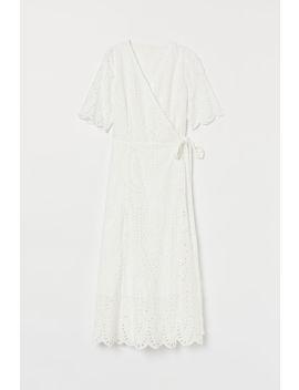 Платье на запахе с вышивкой by H&M