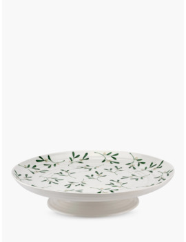 Sophie Conran For Portmeirion Mistletoe Cake Stand, 31.5cm, White/Multi by Sophie Conran For Portmeirion