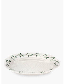 Sophie Conran For Portmeirion Mistletoe Serving Platter, 39cm, White/Multi by Sophie Conran For Portmeirion