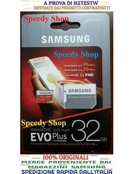 Micro Sd 32 Gb Scheda Memoria 95 Mb/S Class 10 Samsung Evo Plus Uhs I Micro Sd Card by Ebay Seller