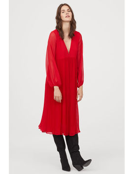 Широкое платье из шифона by H&M