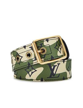 Louis Vuitton X Takashi Murakami Belt Monogramouflage Green by Stock X