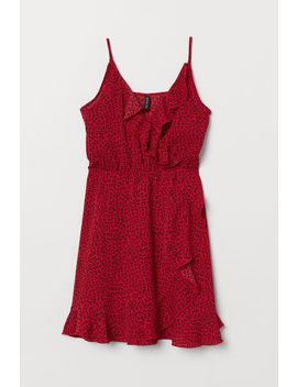 Платье на запахе с оборками by H&M