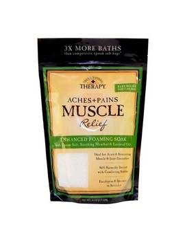Village Naturals Therapy Muscle Relief Foaming Bath Soak   36oz by Village Naturals