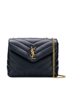 Quiltet Skuldertaske Med Monogram by Saint Laurent