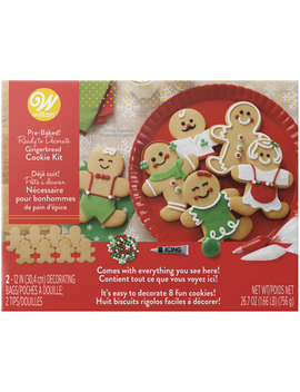 Wilton Ready To Decorate Gingerbread Dress 'em Up Cookie Decorating Kit by Wilton