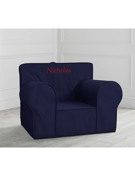 Oversized Navy Anywhere Chair® by Pottery Barn Kids