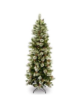 6.5 Ft. Wintry Pine Slim Tree With Clear Lights by National Tree Company