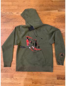 Travis Scott X Jordan Embroidered Washed Suede Hoodie by Travis Scott  ×  Jordan Brand  ×