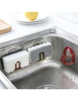 Wall Suction Cup Sink Drain Rack Sponge Soap Storage Holder For Kitchen Bathroom by Unbranded