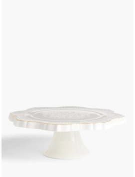 John Lewis & Partners Christmas Traditions Cake Stand, White by John Lewis & Partners