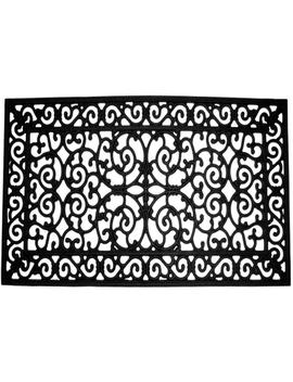 Rubber 24 In. X 48 In. Wrought Iron Door Mat by Traffic Master