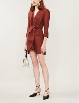 Puffed Shoulder Wrap Dress by Sandro