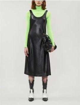 Darpana Scoop Neck Satin Midi Dress by Acne Studios