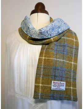 Harris Tweed/ Liberty Of London Scarf, Handmade by Etsy