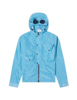 C.P. Company Goggle Chrome Nylon Hooded Zip Shirt by C.P. Company