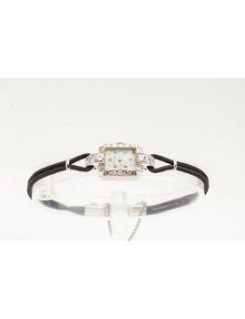 Vintage 1940s .75ct Vs G Diamond Hamilton Ladies Watch Wty by Hamilton