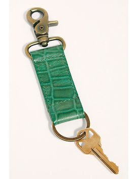 Everywhere Embossed Keychain by Free People