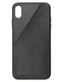 Leather Card I Phone Xs Max Case by Native Union