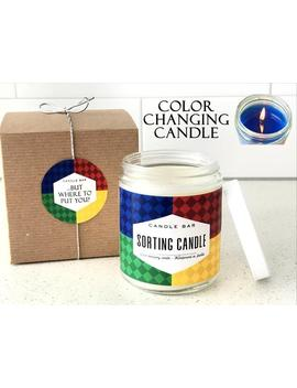 The Sorting Candle   Color Changing Candle   Color Reveal   Sorting House Ceremony   8 Oz   Glass Jar   The Candle Bar   Soy Blend Wax by Etsy