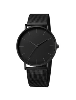 Luxury Watch Men Mesh Ultra Thin Stainless Steel Quartz Wrist Watch Male Clock Reloj Hombre Relogio Masculino Free Shipping by Ali Express.Com