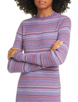 Tinita Stripe Long Sleeve Wool Blend Dress by Stine Goya