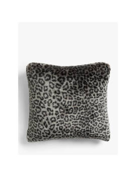 John Lewis & Partners Faux Fur Cushion, Arctic Ocelot by John Lewis & Partners