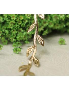 2 Metre Length Gold Leaf Leaves Vine Trim Ribbon   Craft Fabric Garland Wreath by Etsy