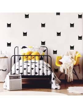 Batman Nursery, Superhero Wall Art, Bat Mask Wall Stickers, Baby Boy Gift by Etsy