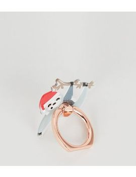 Multicoloured Santa Sloth Phone Ring by New Look