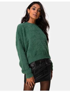 Margo Jumper In Knit Forest Green By Motel by Motel
