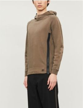 Asymmetric Zip Cotton Jersey Hoody by Cp Company