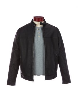 Faux Leather Moto Jacket by Murano