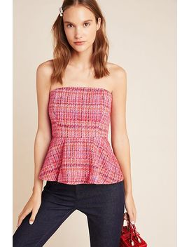 Shannon Peplum Cropped Top by Maeve