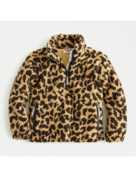 Girls' Sherpa Printed Pullover by J.Crew