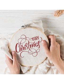 Merry Christmas Embroidery, Family Embroidery, Merry Christmas Embroidery Design, Christmas Designs, Family Gifts, 3 Sizes, Instant Download by Etsy